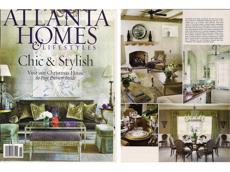 AWD Savannah custom wordwork featured in Atlanta Homes and Lifestyles Magazine