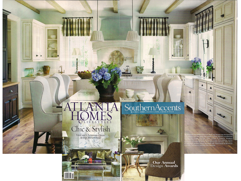 AWD Savannah kitchen renovation featured in Southern Accents Magazine