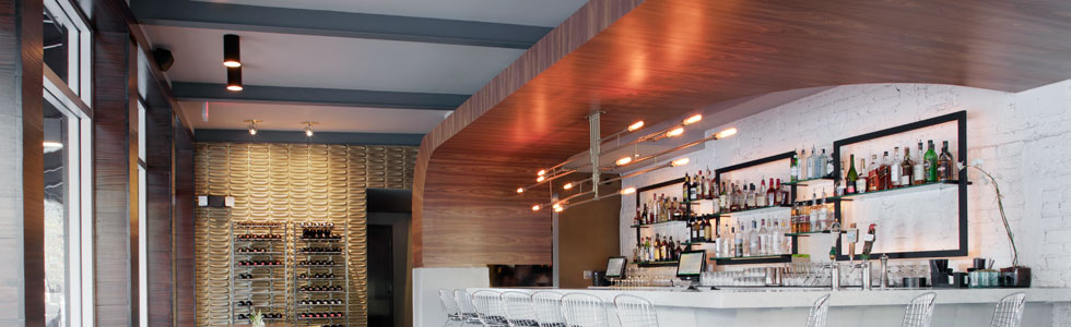 Custom restaurant interior by AWD of Savannah. The Public Kitchen & Bar.